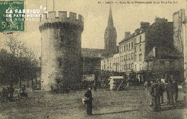 Cl 04 149 Caen- Place de la poissonnerie et La tour Leroy