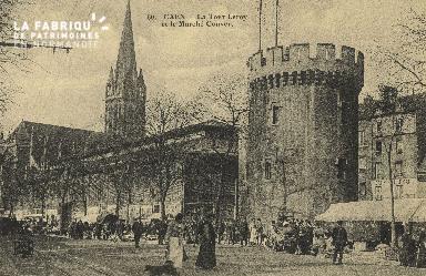 Cl 04 152 Caen- La tour Leroy et le marché Couvert