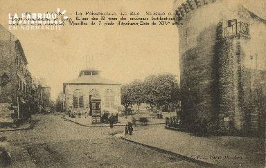 Cl 04 153 Caen- La poissonnerie- La rue St-Malo et la tour Guillaume L