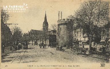 Cl 04 155 Caen- Le boulevard St-Pierre et la tour Leroy