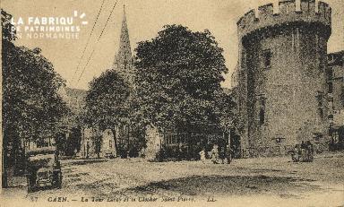 Cl 04 157 Caen- La tour Leroy et le Clocher St-Pierre