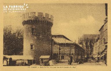 Cl 04 163 Caen- Les Halles et tour de Guillaume-le-Roi
