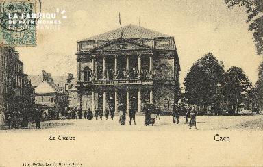 Cl 04 166 Caen- Le théâtre