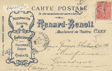 Cl 04 179 Caen- Télégrammes Renard Benoit