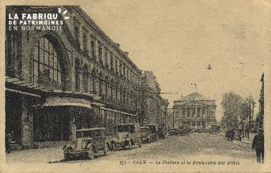 Cl 04 181 Caen- Le  théâtre et le boulevard des Alliès