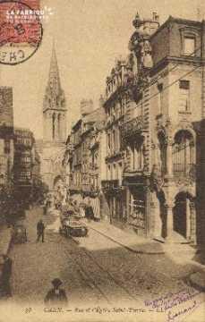 Cl 04 201 Caen- Rue et église St-Pierre