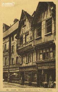 Cl 04 208 Caen- Vieille Maison en bois, Rue St-Pierre