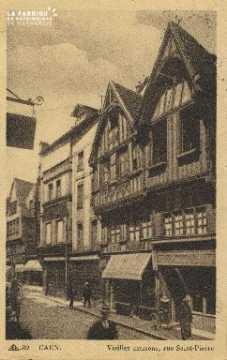 Cl 04 212 Caen- Vieille Maison Rue St-Pierre