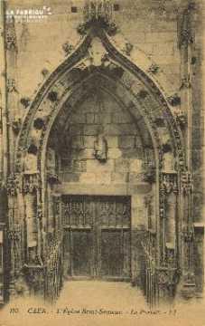 Cl 04 239 Caen- Eglise St-Sauveur - Le protail