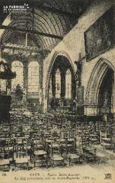 Cl 04 245 Caen- Eglise St-Sauveur, La nef principal, dite de St-Eustac