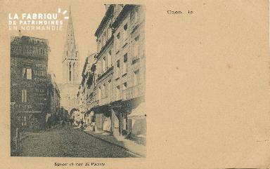 Cl 04 258 Caen-  Rue et église St-Pïerre