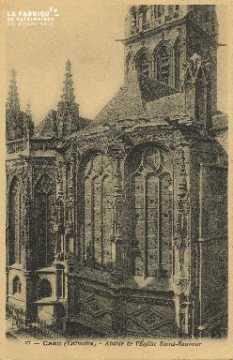Cl 04 264 Caen- Abside de l'Eglise St-Sauveur