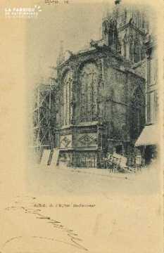 Cl 04 268 Caen- Abside de l'Eglise St-Sauveur