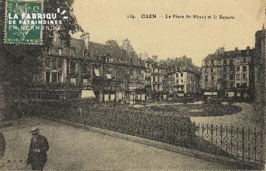 Cl 04 275 Caen- Place St-Pierre et le square