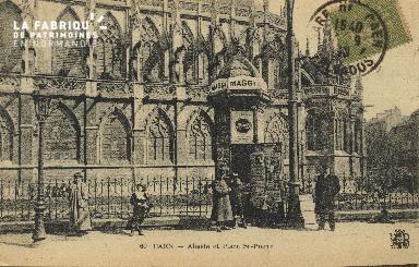 Cl 04 305 Caen- Abside et Place St-Pierre