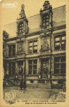 Cl 04 307 Caen- Hôtel d'escoville- Vue interieure - Siège de la chambr