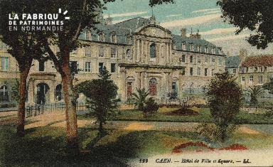 Cl 05 007 Caen- Hôtel de ville et square
