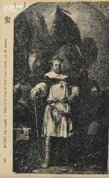 Cl 05 052  Musée de Caen- Dépard du duc de Guillaume (1066), par H. De