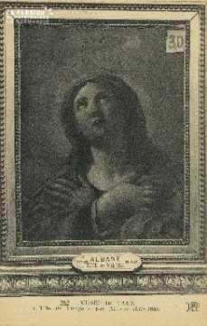 Cl 05 056  Musée de Caen - Tête de la Vierge, par Alban ( 1578-1660)
