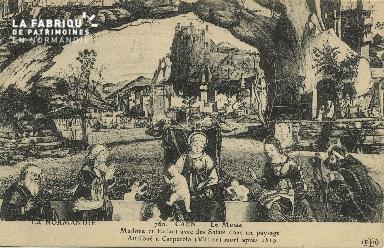 Cl 05 061 Caen - Le musée- Madone et enfant avec des Saint dans un pay