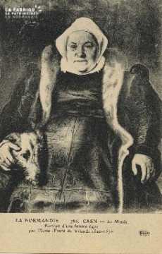 Cl 05 080 Caen- Le Musée- Portrait d'une femme âgée par Floris (Frens