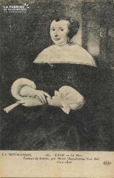 Cl 05 087 Caen- Le Musée- Portrait de femme, par Helot (Bartolomeus Va