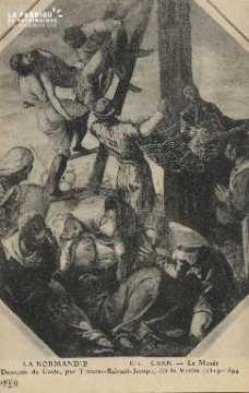 Cl 05 092 Caen- Le Musée- Descente de la croix, par Tintaret-Rabusti-J