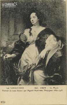 Cl 05 095 Caen- Le Musée- Portrait de Jeune femme, par Rigaud-Hyacinth