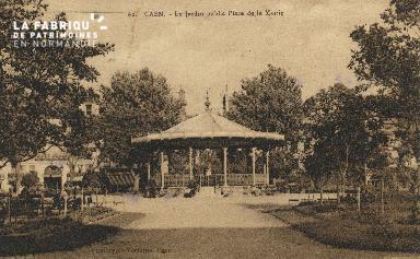 Cl 05 108 Caen- Le jardin public place de la Déposant : mairie