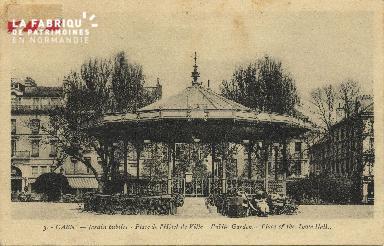 Cl 05 109 Caen- Le jardin public- Place de L'Hôtel de ville
