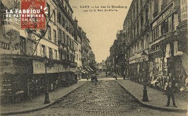 Cl 05 147 Caen- Rue de Strabourg vue de la Rue St-Pierre