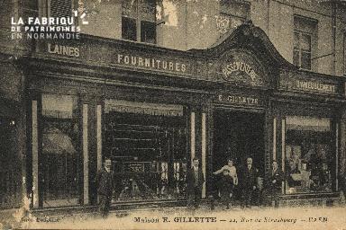 Cl 05 149 Caen- Maison E. GILETTE- 22 Rue de Strabourg