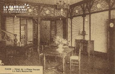 Cl 05 161 Caen- Hôtel de la Place Royale- La salle Normande