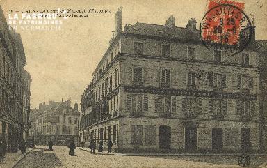 Cl 05 164 Caen- Le comptoir National d'escompte et la rue du pont St-J