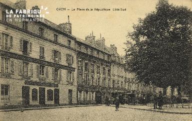 Cl 05 165 Caen- La place de la république côté sud