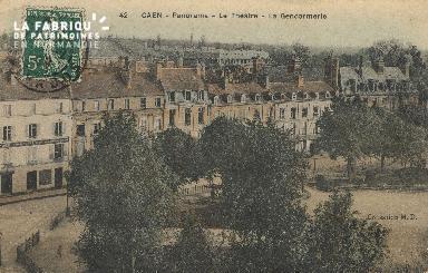 Cl 05 166 Caen- Panorama - Le Théatre - La gendarmerie