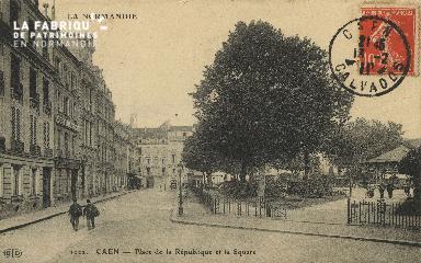 Cl 05 172 Caen- Place de la République et le Square