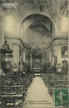 Cl 05 185 Caen- Interieur de l'église Notre-Dame