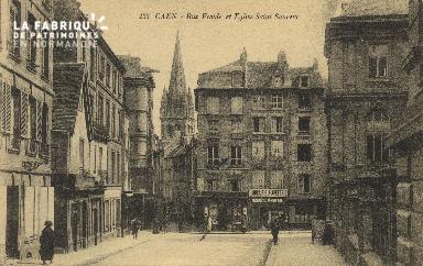 Cl 05 214 Caen- Rue Froide et Eglise St-Sauveur