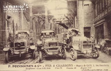 Cl 05 220 Caen- P. POINSIGNON et Cie- Fer et Charbons- Magasin de Caen