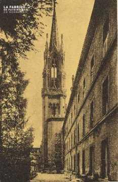 Cl 06 025 Caen-monastère des bénédictines du St sacrement-le clocher e