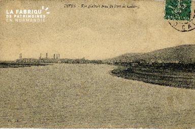 Dives sur Mer Vue générale prise du pont de Cabourg