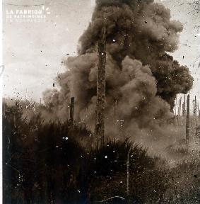 Explosion d'une mine dans les Vosges