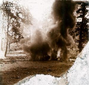 Explosion en forêt