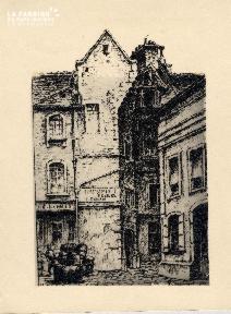 Caen-Rue St Pierre N° 70 Cour de la Monnaie