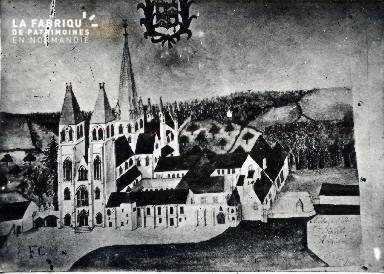 Caen-L'Abbaye aux Hommes gravure