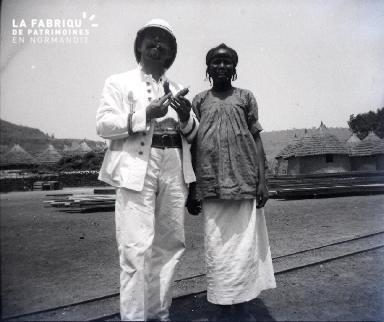 Afrique-Colon avec une africaine