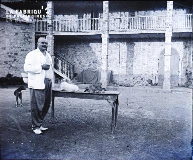 Afrique-Colon dans la cour d'une propriété