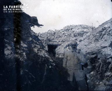 Argonne au Fer à cheval-Vu de l'observatoire bétonné du Cap dé (manque d'informations)
