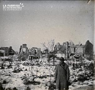 Une rue de Berry-au Bac. Février 1917